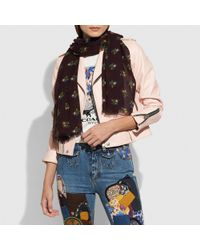 COACH - Multicolor Allover Cross Stitch Floral Oblong - Lyst