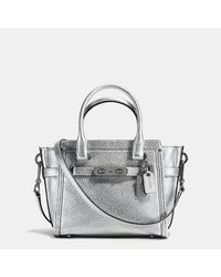 COACH | Blue Swagger 21 Carryall In Pebble Leather | Lyst