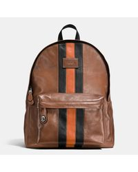 COACH   Multicolor Modern Varsity Campus Backpack In Sport Calf Leather for Men   Lyst