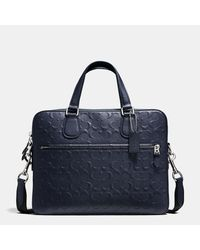 COACH | Blue Hudson 5 Bag In Signature Crossgrain Leather | Lyst