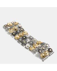 COACH | Metallic Wide Daisy Rivet Bracelet | Lyst