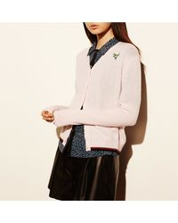 COACH   Multicolor V-neck Cardigan With Rexy Patch   Lyst