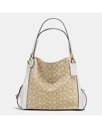 COACH | Multicolor Edie Shoulder Bag 31 In Signature Jacquard | Lyst