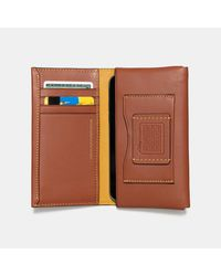 COACH - Brown Mickey Phone Wallet In Glovetanned Leather for Men - Lyst