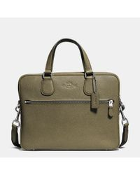 COACH | Green Hudson 5 Bag In Crossgrain Leather for Men | Lyst