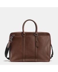 COACH | Brown Metropolitan Slim Brief In Sport Calf Leather for Men | Lyst