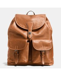 COACH | Brown Rucksack In Sport Calf Leather | Lyst