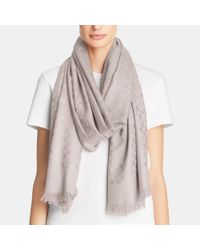 COACH | Gray Signature C Stole | Lyst