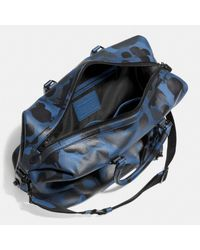 COACH | Multicolor Explorer Duffle In Printed Pebble Leather for Men | Lyst