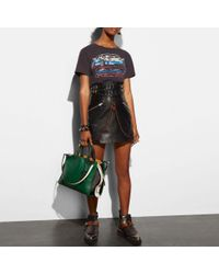 COACH - Black Rogue In Glovetanned Pebble Leather With Colorblock Snake - Lyst