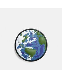 COACH - Green Planet Earth Leather Pin - Lyst