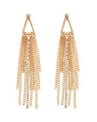 Coast | Metallic Tassel Statement Earrings | Lyst