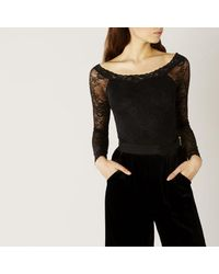 Coast | Black Elle Lace Body | Lyst