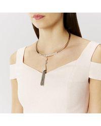 Coast   Metallic Arta Torq Tassel Necklace   Lyst