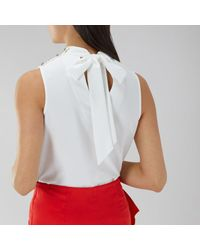 Coast - White Dahlia Button Top - Lyst