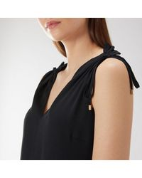 Coast - Black Charlie Drawstring Top - Lyst