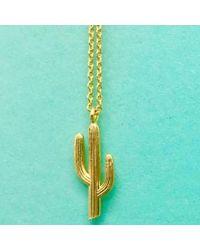Estella Bartlett - Blue Cactus Necklace - Lyst