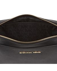 MICHAEL Michael Kors - Black Women's Jet Set Large East West Cross Body - Lyst