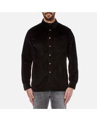 Nudie Jeans - Black Men's Calle Cord Shirt for Men - Lyst