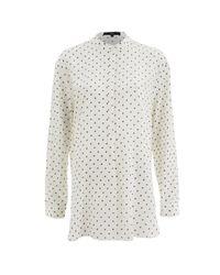 Tibi   White Diffusion Shirt   Lyst