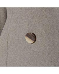 Helmut Lang - Gray Women's Cropped Peacoat - Lyst
