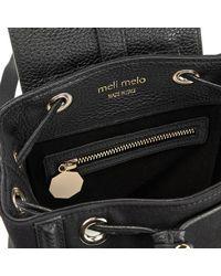 Meli Melo | Black Women's Mini Nylon Backpack | Lyst