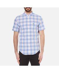 Lacoste | Multicolor Men's Short Sleeve Check Shirt Methylene/flower Purple for Men | Lyst