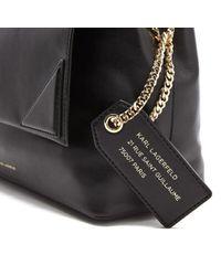 Karl Lagerfeld - Black Women's K/slouchy Shoulder Bag - Lyst