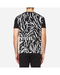 Versus  - Black Men's Lion Large Logo Tshirt for Men - Lyst