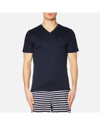 Michael Kors - Blue Men's Sleek Mk V Neck Tshirt for Men - Lyst