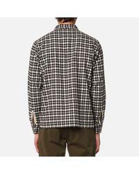 Universal Works - Brown Men's Garage Shirt for Men - Lyst