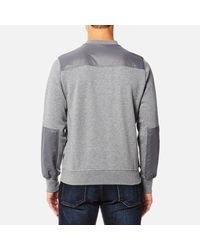 PS by Paul Smith - Gray Men's Panelled Crew Neck Sweatshirt for Men - Lyst