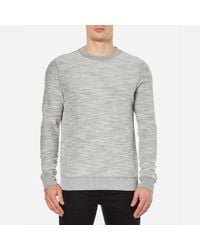 BOSS Orange - Gray Men's Woice Reversible Sweatshirt for Men - Lyst