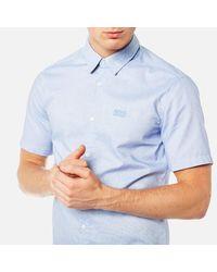 BOSS Green - Blue Men's Busterino Shirt for Men - Lyst