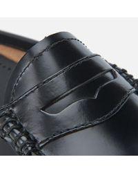 G.H. Bass & Co. - Black Women's Penny Slide Wheel Print Leather Slide Loafers - Lyst