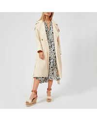 See By Chloé - Natural See By Chloe Women's Long Trench Coat Style Jacket - Lyst
