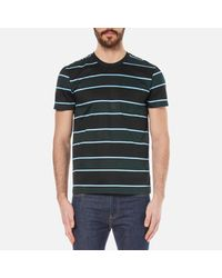 AMI | Black Men's Wide Stripe Tshirt for Men | Lyst