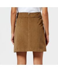 A.P.C. - Natural Women's Shanya Skirt - Lyst