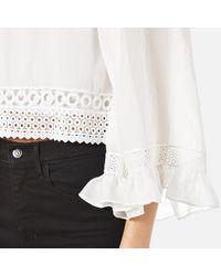 McQ Alexander McQueen - White Women's Volume Sleeve Top - Lyst