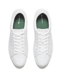 Lacoste | White Men's Straightset Spt 116 1 Leather Trainers for Men | Lyst