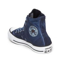 Converse - Blue Chuck Taylor All Star Hitop Trainers for Men - Lyst