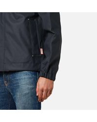 Hunter - Blue Men's Original Rubberised Bomber Jacket for Men - Lyst