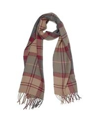 Barbour - Brown Women's Tartan Wrap Rosewood Scarf - Lyst