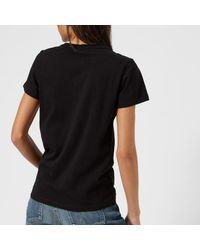 Maison Kitsuné - Black Women's Parisienne Tshirt - Lyst