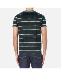 AMI - Black Men's Wide Stripe Tshirt for Men - Lyst