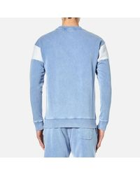 BOSS Orange | Blue Men's Wham Crew Neck Sweatshirt for Men | Lyst