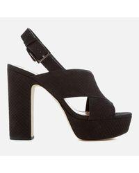 5cd0e6360e35 Michael Michael Kors Mariana Sling Back Platform Sandals in Black - Lyst