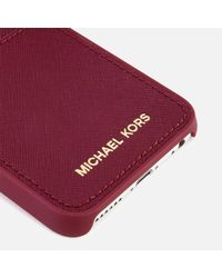 MICHAEL Michael Kors - Multicolor Women's Leather Iphone 7 Cover - Lyst