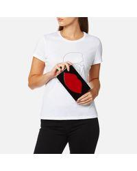 Lulu Guinness - Red Women's Perspex Zaha Clutch Bag - Lyst