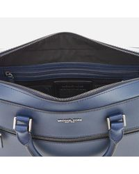 Michael Kors - Blue Men's Harrison Zipped Briefcase for Men - Lyst